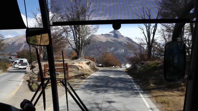 landscape next to perito moreno glacier in patagonia - アルゼンチン文化点の映像素材/bロール