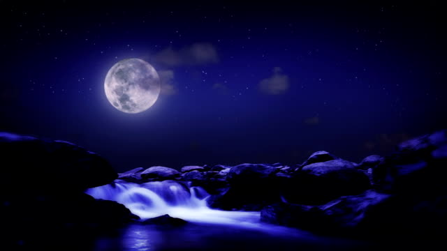 landschap nacht berg rivier