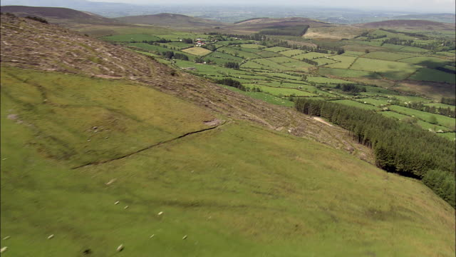Landscape North Of Lismore  - Aerial View - Munster,  County Waterford,  helicopter filming,  aerial video,  cineflex,  establishing shot,  Ireland