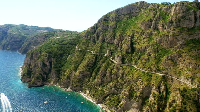Landscape of Amalfi Coast cliff