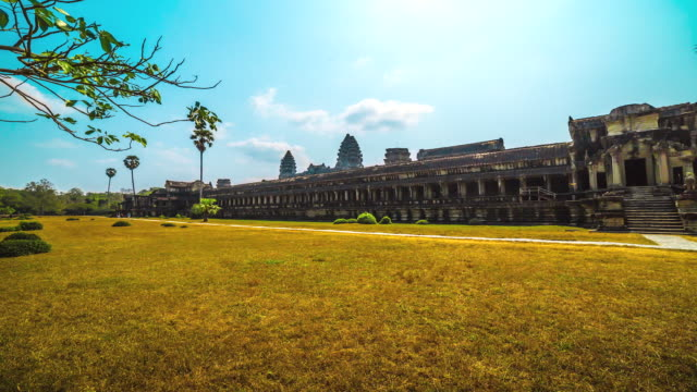 WS POV T/L Landscape of Angkor Wat / Angkor, Siem Reap, Province Colombia