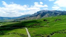 landscape of Aso area in Japan