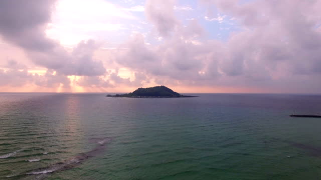 landscape of biyangdo island at sunset - 島点の映像素材/bロール