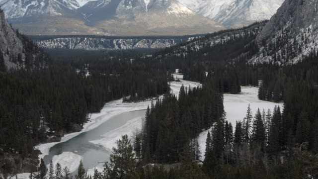 landscape of canadian rockies - valley of the ten peaks stock videos & royalty-free footage