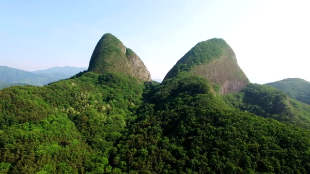 Landscape of crag at Maisan Mountain Peak
