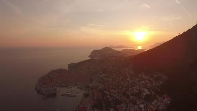 landscape of dubrovnik,croatia - adriatic sea stock videos & royalty-free footage