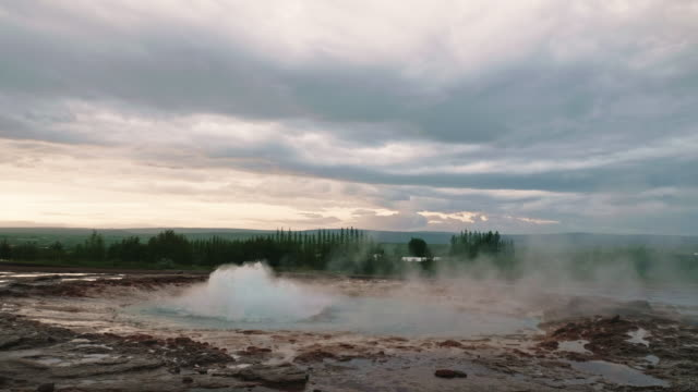 Landscape of Geyser hot spring, Iceland