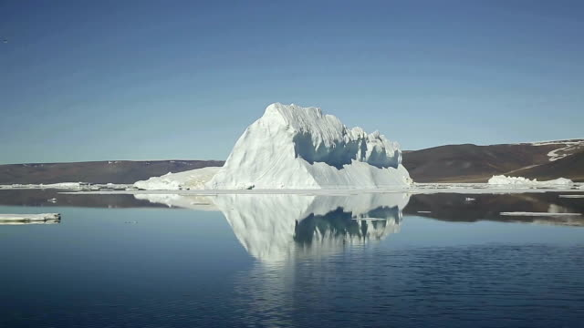 landscape of glacier and icebergs in arctic ocean, north pole in summer - north pole stock videos & royalty-free footage