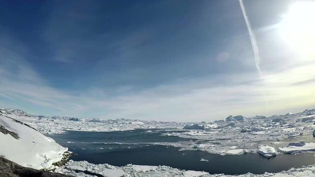 landscape of glacier and icebergs in greenland - north pole stock videos & royalty-free footage