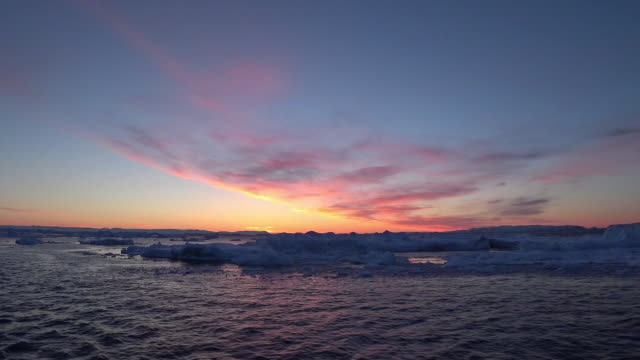 landscape of glacier and icebergs in greenland - ice sheet stock videos and b-roll footage