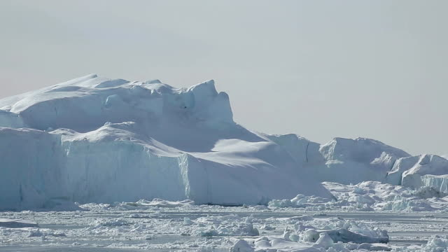 landscape of glacier and icebergs in ilulissat, greenland - ice sheet stock videos and b-roll footage