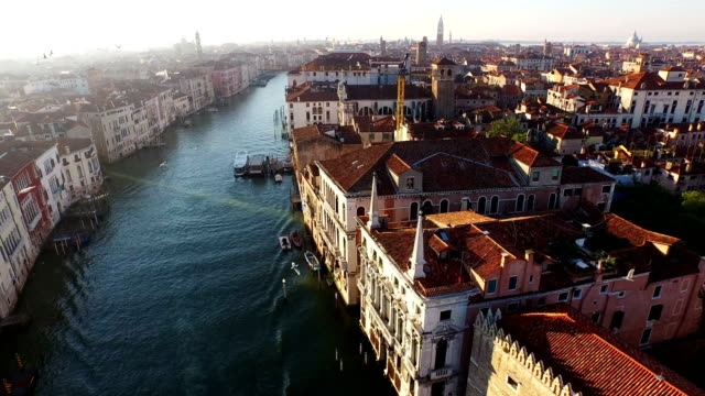 landscape of grand canal - venice italy stock videos & royalty-free footage