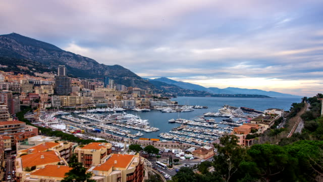 landscape of harbor and royal palace of monaco - royal palace monaco stock videos and b-roll footage