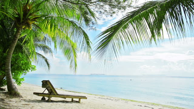 landscape of island - beach chairs stock videos & royalty-free footage