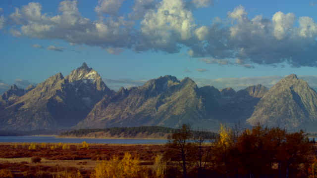 landscape of jackson hole - jackson hole stock-videos und b-roll-filmmaterial