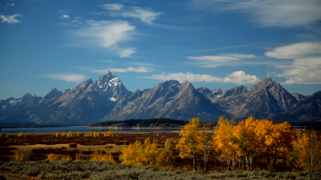 landscape of jackson hole - wyoming stock-videos und b-roll-filmmaterial