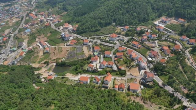 stockvideo's en b-roll-footage met landscape of namhae german town in namhae, south korea - natuurwonder