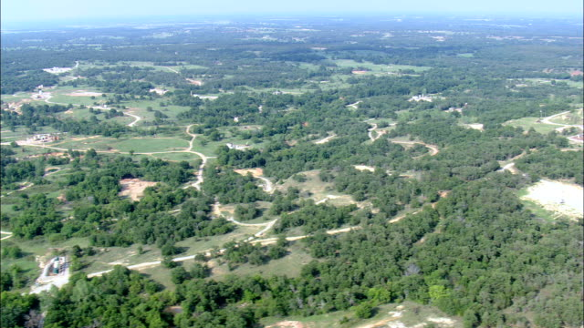 landscape of oil  - aerial view - oklahoma, carter county, united states - oklahoma stock videos & royalty-free footage