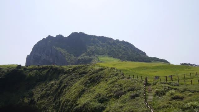 Landscape of Seongsan Ilchulbong Tuff Cone in Jeju Island