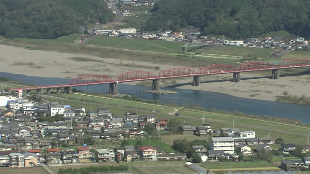 vídeos de stock e filmes b-roll de landscape of shimantogawa river, kochi, japan - campo murado