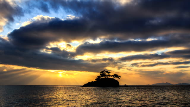 Landscape of Solseom Island (Famous photo attractions in Korea) on the sea in Byeonsanbando National Park, Buangun