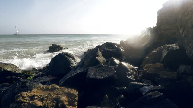 landscape of stones with ocean - earth goddess stock videos & royalty-free footage