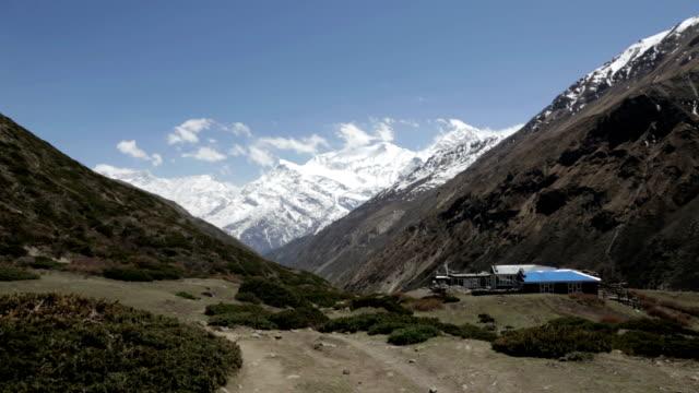 landscape of the annapurnas trek in nepal - annapurna range stock videos and b-roll footage