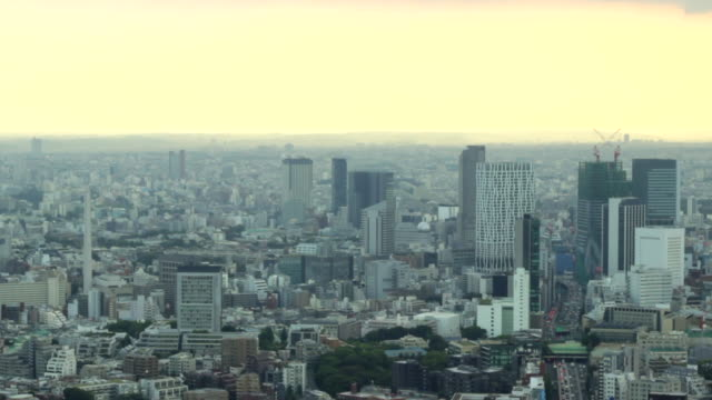vídeos de stock, filmes e b-roll de paisagem da cidade de tokyo - vista da cidade