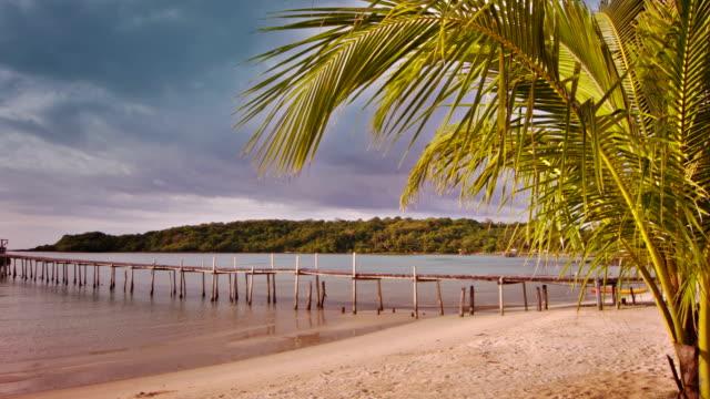 Landscape of tranquil island beach