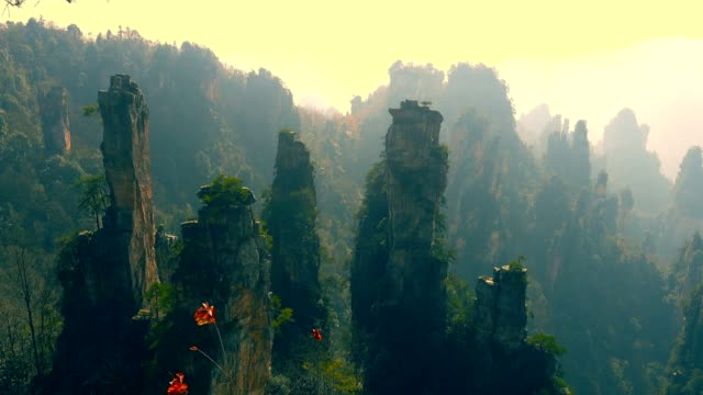 landscape of zhangjiajie,china - fantasy stock videos & royalty-free footage