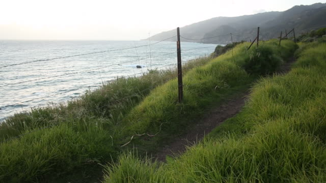 A landscape scene from Big Sur on the Pacific Coast Highway.