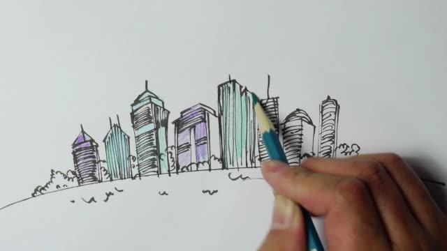 Landschaft Skizzen, handbemalten