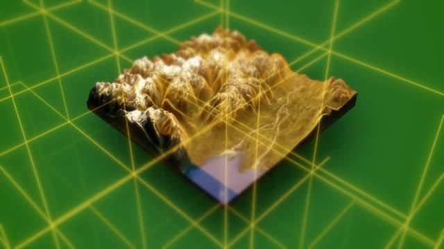 3D Landschaft Topographie Ansicht