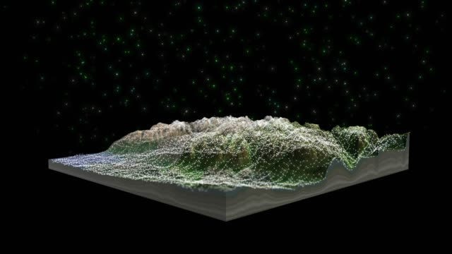 3d landscape topography view - geology stock videos & royalty-free footage