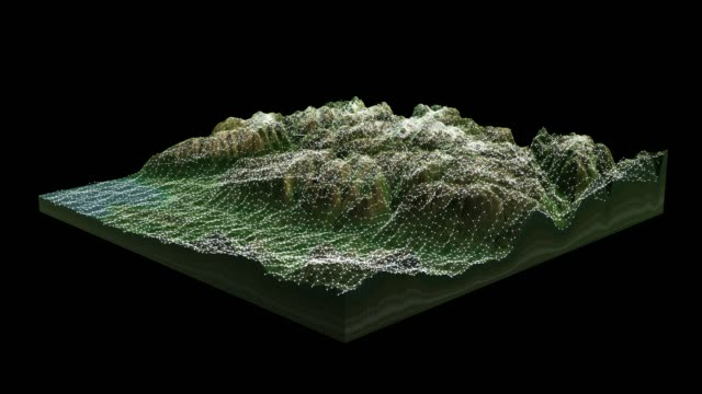 3d landscape topography view - digital composite stock videos & royalty-free footage