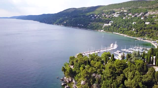 landscape / trieste, italy - anchored stock videos & royalty-free footage