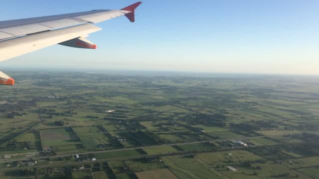 Landscape View From a Jet Plane Window