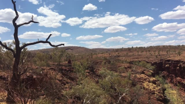 landscape view of the pilbara western australia - outback stock videos & royalty-free footage