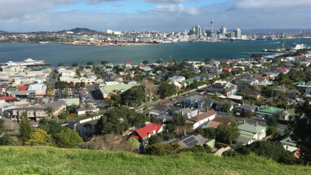 Landscape view of Waitemata Harbour and Auckland City Skyline
