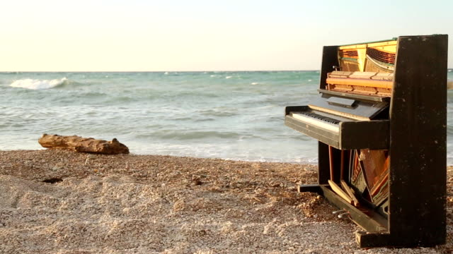 landscape with an old piano - piano stock videos and b-roll footage