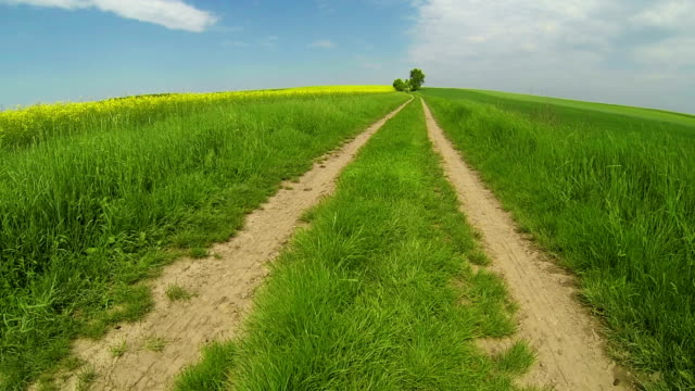 landscape with country road - crucifers 個影片檔及 b 捲影像