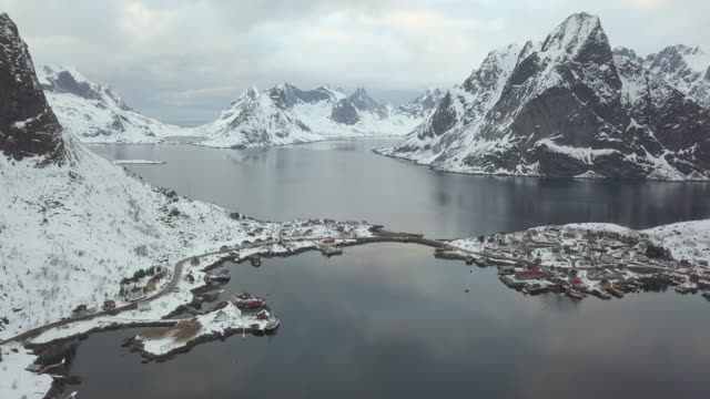 landscapes of the lofoten islands in norway - nordland county stock videos & royalty-free footage