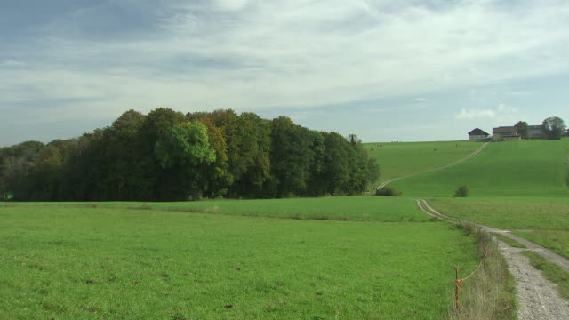 landschaftsaufnahmen - countryside around the origin of mattsee - hügellandschaft stock-videos und b-roll-filmmaterial