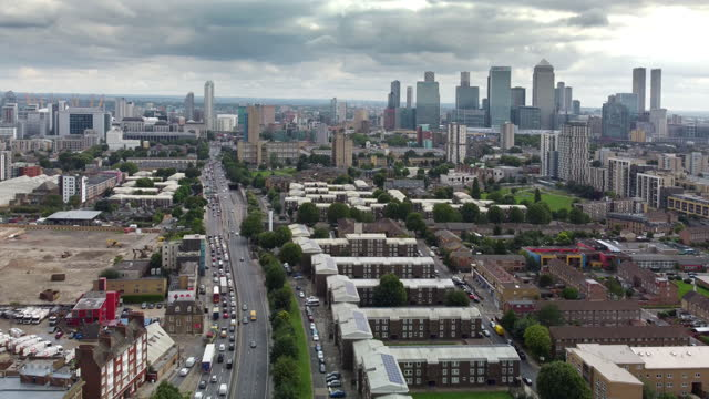 langdon park, east london and the a12 - financial district stock videos & royalty-free footage