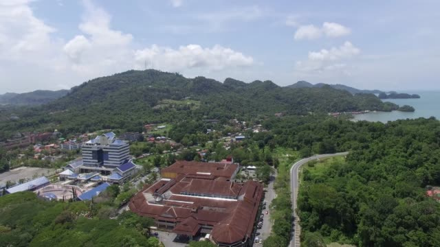 langkawi eagle - dataran lang - a giant eagle statue in langkawi, malaysia - langkawi stock videos and b-roll footage