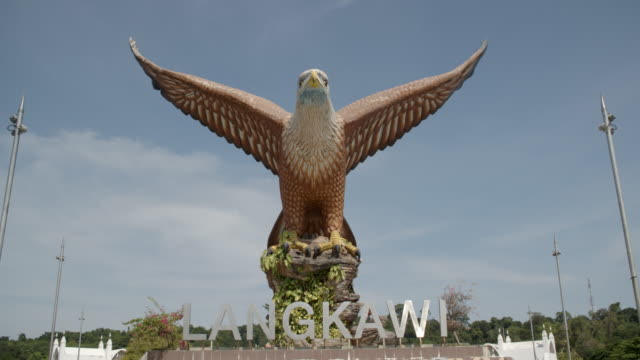 langkawi eagle statue / malaysia - langkawi stock videos and b-roll footage