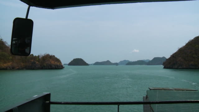 langkawi island landscape view, langkawi ferry - push in stock videos & royalty-free footage