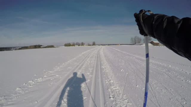 langlauf10 - wintersport stock-videos und b-roll-filmmaterial