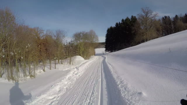 langlauf12 - telemark stock videos and b-roll footage