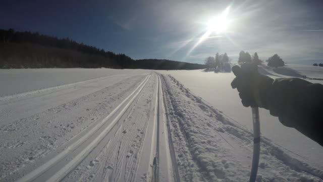 langlauf2 - telemark stock videos and b-roll footage